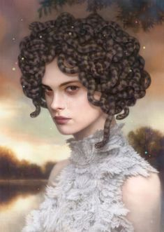 Tom Bagshaw; I think if my hair looked like worms, I'd make a face! kn