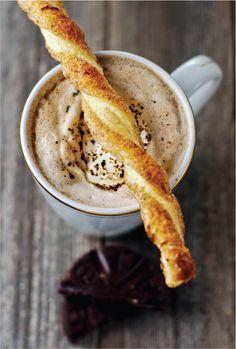 Puff Pastry Cinnamon Sticks & Mexican Hot Cocoa