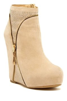 Elegant Footwear Sonnica Micro Stud Wedge Boot from HauteLook on shop.CatalogSpree.com, your personal digital mall.