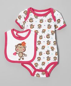 This perfect mealtime duo arrives on the scene just in time for lunch! Snap closures make for easy changes on the bodysuit, and the bib has a fun graphic that will delight any hungry little cutie.