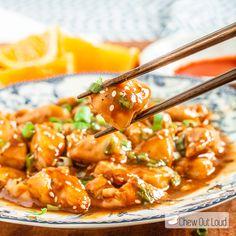 Orange Chicken With Scallions Recipe — Dishmaps