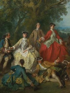1740, Lancret, Picnic after the hunt