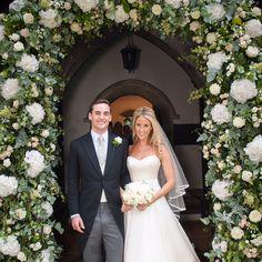 Beautiful Fawn on her wedding day in a clean Phillipa Lepley dress and veil. The most beautiful silk duchesse satin in the world speaks for itself. #weddingdress #wedding #bespoke #designerweddingdress #bridalgown #luxury #couture #british #britishweddingdressdesigner #londonbride #coutureweddingdress #englishweddingdressdesigner #silk #lace #embroidery #veil