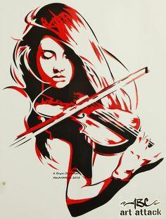 The Violinist by abcartattack on deviantART
