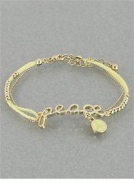 """Amazon.com: Designer Inspired """"Peace"""" & Peace Sign Bracelet 
