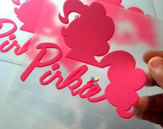 Pinkie Pie - Pinkie Pie SPOOF logo -  MLP FIM  for Cars and Laptops by makemygraphic. Explore more products on http://makemygraphic.etsy.com