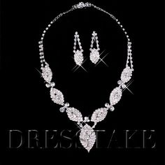 Fabulous Alloy with Clear Rhinestone Bridal Jewelry Sets - (Including Necklace and Earring)