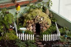 I love fairy gardens!  I never knew about them until I saw they were going to be on display at the Corn Hill Arts Festival (Rochester, NY).  I must make one with my little girl in our yard.