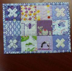 #wintercozyswap mug rug is complete! Package will be in mail tomorrow! #miniraspberrykissblock