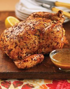 Try this delicious Tuscan Garlic & Herb Whole Roasted Chicken Recipe. Try this delicious Tuscan Garlic & Herb Whole Roasted Chicken Recipe. Whole Chicken Recipe Easy, Roast Chicken Recipes, Stuffed Whole Chicken, Turkey Recipes, Dinner Recipes, Dinner Ideas, Recipe Chicken, Roaster Oven Recipes Chicken, Bbq Whole Chicken