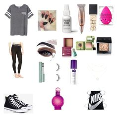 """Untitled #62"" by joleighgrace on Polyvore featuring beauty, Victoria's Secret, Calvin Klein, Converse, Urban Decay, Bare Escentuals, NARS Cosmetics, Too Faced Cosmetics, beautyblender and Benefit"