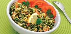 Tabbouleh is a traditional Arabic salad made with bulgur and a selection of finely chopped vegetables. If cutting all the vegetables seems daunting, pull out the food processor and make use of its chopping blade.