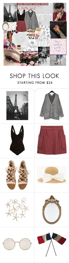 """""""☾ i think it's strange that you think i'm funny"""" by thundxrstorms ❤ liked on Polyvore featuring Heidi Klein, Les Prairies de Paris, Illesteva and country"""