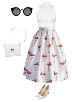 """flamingo point"" by hiyomi on Polyvore featuring ファッション, WearAll, Chicwish, Quay, Christian Louboutin と Chanel"