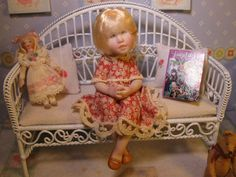 OOAK Dollhouse Miniature Girl Doll * Celeste * by Carol McBride