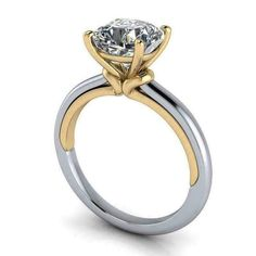 Engagement Solitaire, Engagement Rings Cushion, Best Engagement Rings, Bridal Jewelry Sets, Bridal Rings, Wedding Jewelry, Solitare Ring, Ring Verlobung, Moissanite Rings
