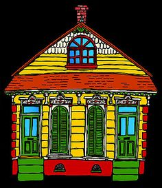 new orleans shotgun house by NOLA STYLES, via Flickr