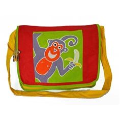 Kids Monkey shoulder bag. Tribal Textiles, Zambia. http://www.worldtravelart.com/Kids_Monkey_Shoulder_Bag_p/00txkidsbag.htm