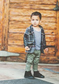Olive chinos by Aven, new boys' clothing line. J'adore!