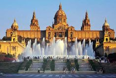 Barcelona--Spain vacation spots, art museum, dream, fountains, palaces, places, travel, fonts, barcelona spain