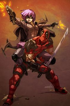 Deadpool and hit girl team up
