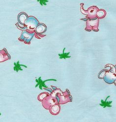 Vintage Childrens Novelty Print Cotton by allthepreciousthings, $18.00