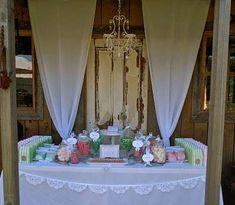 Rustic Garden Wedding Candy Buffet   CatchMyParty.com