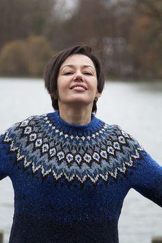 Riddari pattern by Védís Jónsdóttir Fair Isle Knitting Patterns, Icelandic Sweaters, Knit Crochet, Men Sweater, Pullover, Wool, Fair Isles, Clothes, Christmas