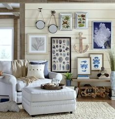 Nautical Themed Living Room Ideas Lamp Decorating With Beautiful Image Coastal Decor Inspiration From Birch Lane