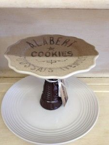 2 plates and a vase repurposed into a 2 tier dessert stand at Better Than Ever, Paducah, KY. Pick up some dishes at Anything Goes Trading Co. when they have their famous parking lot sales!