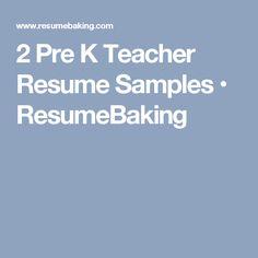 2 pre k teacher resume samples resumebaking