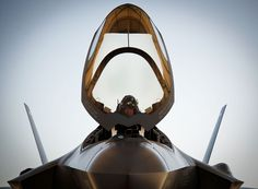 echo018:  Ready for LightningLt. Col. Benjamin Bishop completes preflight checks before his first sortie in an F-35A Lightning II.