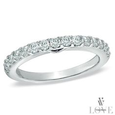 Vera Wang LOVE Collection 1/2 CT. T.W. Diamond Anniversary Band in 14K White Gold. $1,199.99