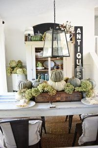Fall centerpieces from The Cottage Market