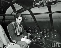 "Historical Pics @VeryOldPics · Howard Hughes inside of the H-4 Hercules, more widely known as the ""Spruce Goose""."