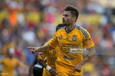 Rafael Sobis of Tigres celebrates after scoring the first goal of his team during a match between Leones Negros and Tigres UANL as part of 9th round Clausura 2015 Liga MX at Jalisco Stadium on March 08, 2015 in Guadalajara, Mexico.