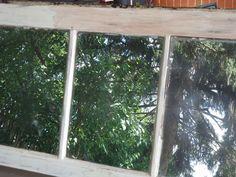 Repurposed Basement Window to Garden Wall Decor