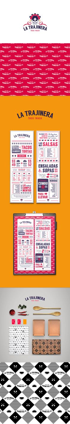 Concepto de branding y packaging para un food truck de comida rápida mexicana. Diseño de identidad corporativa, menús y cajas contenedoras de alimentos. Branding and packaging concept for a fast mexican food truck. Corporate identity, menu and take away…