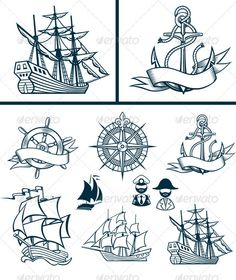 Sailing ships emblems Iconset  #GraphicRiver         Vector Set of Various marine emblem silhouettes.  EPS8 -main file All elements distributed by separated layers. Additional formats: hi-res layered PSD with transparancy, hi-res PNG with trancparency, hi-res JPEG      Created: 18September12 GraphicsFilesIncluded: PhotoshopPSD #TransparentPNG #JPGImage #VectorEPS Layered: Yes MinimumAdobeCSVersion: CS Tags: anchor #banner #boat #captain #history #isolated #legend #medievalboat #old #past…