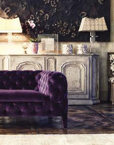 ARKETIPO Windsor, Italy. Gorgeous purple velvet.