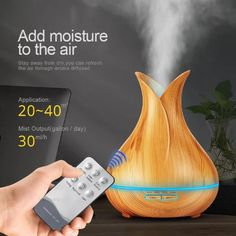 Home decor, home decor ideas. Aroma Essential Oil Diffuser Ultrasonic Air Humidifier with Wood Grain 7 Color Changing LED Lights for Office Home. Cool Mist Humidifier, Air Humidifier, Aroma Essential Oil, Essential Oil Diffuser, G 1, Aroma Diffuser, Aromatherapy Diffuser, Color Changing Led, Color Change