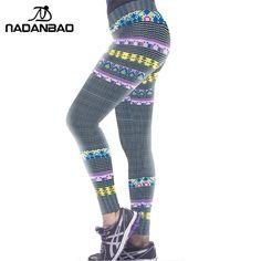 NADANBAO Autumn Women Leggings Pants Gray Print Patterns Leggings Women High Elastic Trouser Mujer Pantalon Fitness Leggins  #leggings #pants #fitness #gym #workout #fitnessfashion #women #style