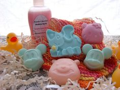 Children's SoapsBear Mouse Elephant and Kitty  by CarriesBerries, $4.50