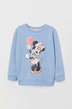 Sweatshirt with Motif - Light blue/Minnie Mouse - Kids Couple Outfits, Kids Outfits Girls, Disney Outfits, Boy Outfits, Disney Clothes, Disney Couple Shirts, Mickey Mouse T Shirt, Emo Dresses, Party Dresses