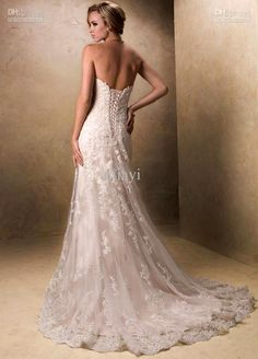 lace corset wedding dress