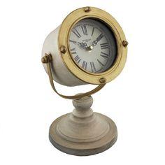 OLD FASHIONED SPOTLIGHT CLOCK IN CREAM
