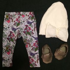 Legging, Slouchy Beanies, and Moccs! Available at www.etsy.com/shop/jbabyapparel