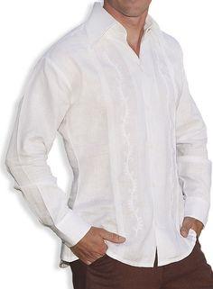 Check out the deal on Canali White Linen Tropical Guayabera Shirt at Shaka Time Hawaii Clothing Store Free Shipping from Hawaii #hawaiianshirts #hawaiianshirt #longsleeve