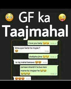 Funny Quotes In Hindi, Funny Texts Jokes, Funny Attitude Quotes, New Funny Memes, Latest Funny Jokes, Text Jokes, Funny School Jokes, Funny Girl Quotes, Very Funny Jokes