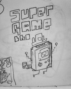 Found this sketch for my Super Game Bro print from earlier this year.  #gamebro #supergamebro #sketchbook #8bit #mario #gameboy November 25 2015 at 11:48AM
